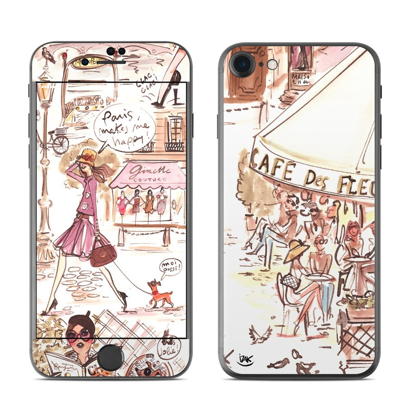 Paris Makes Me Happy iPhone 7 Skin