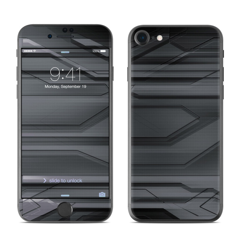 iPhone 7 Skin design of Black, Monochrome, Line, Architecture, Black-and-white, Design, Pattern, Sky, Automotive design, Ceiling with black, gray colors