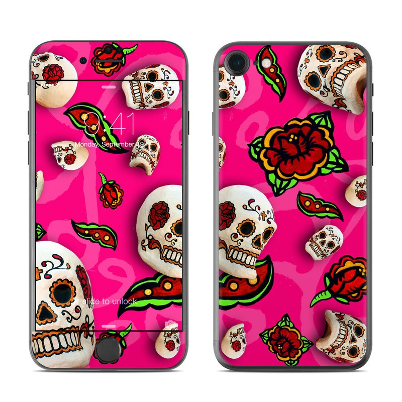 Pink Scatter iPhone 7 Skin