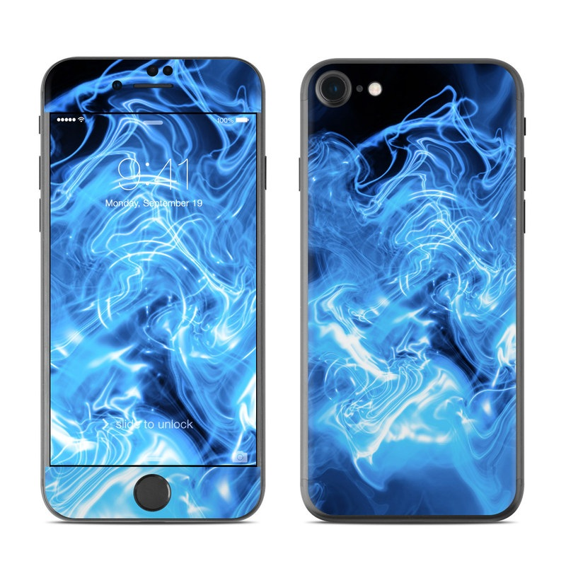 Blue Quantum Waves iPhone 7 Skin