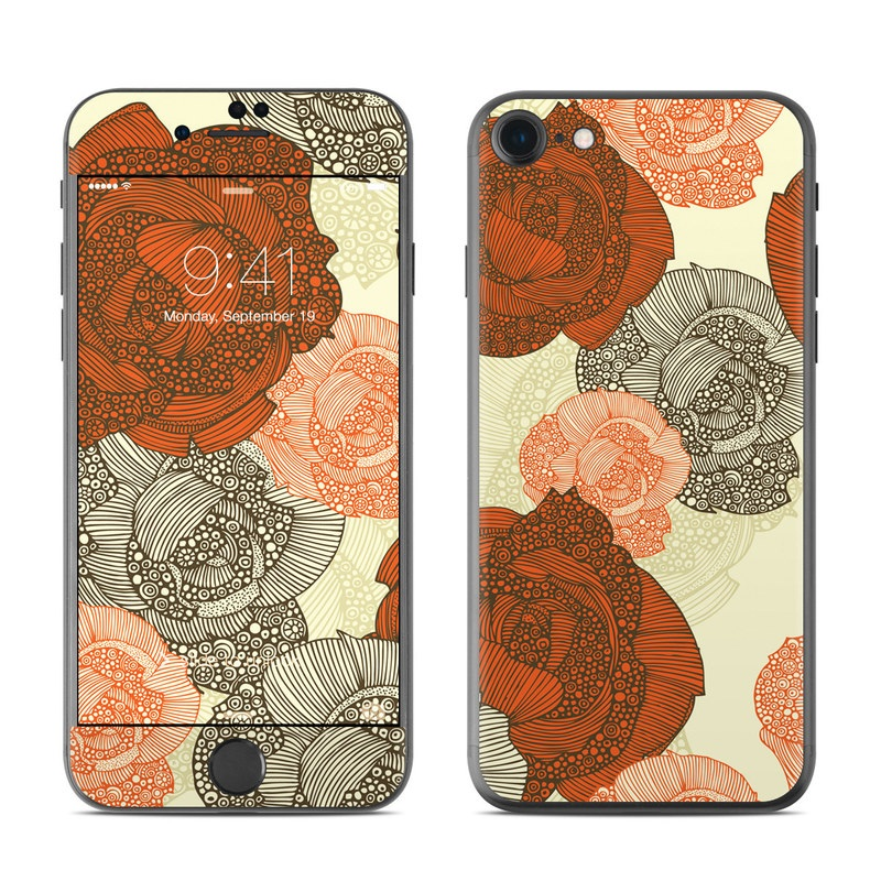 iPhone 7 Skin design of Pattern, Orange, Illustration, Design, Currency, Paper, Line, Circle, Textile, Money with red, gray, pink, yellow, green, orange colors