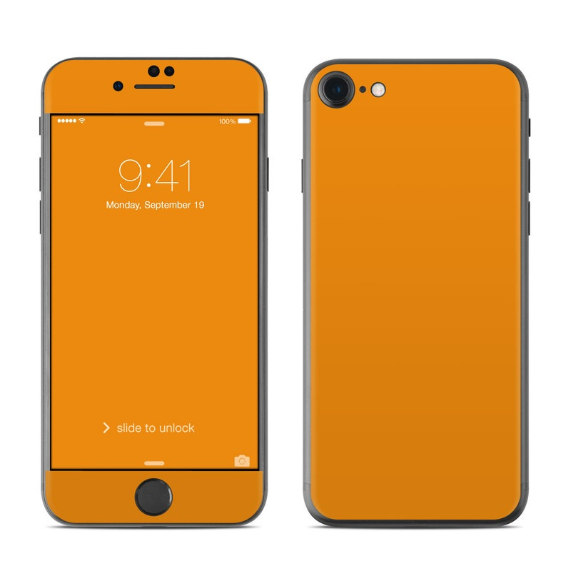 iPhone 7 Skin design of Orange, Yellow, Brown, Text, Amber, Font, Peach with orange colors