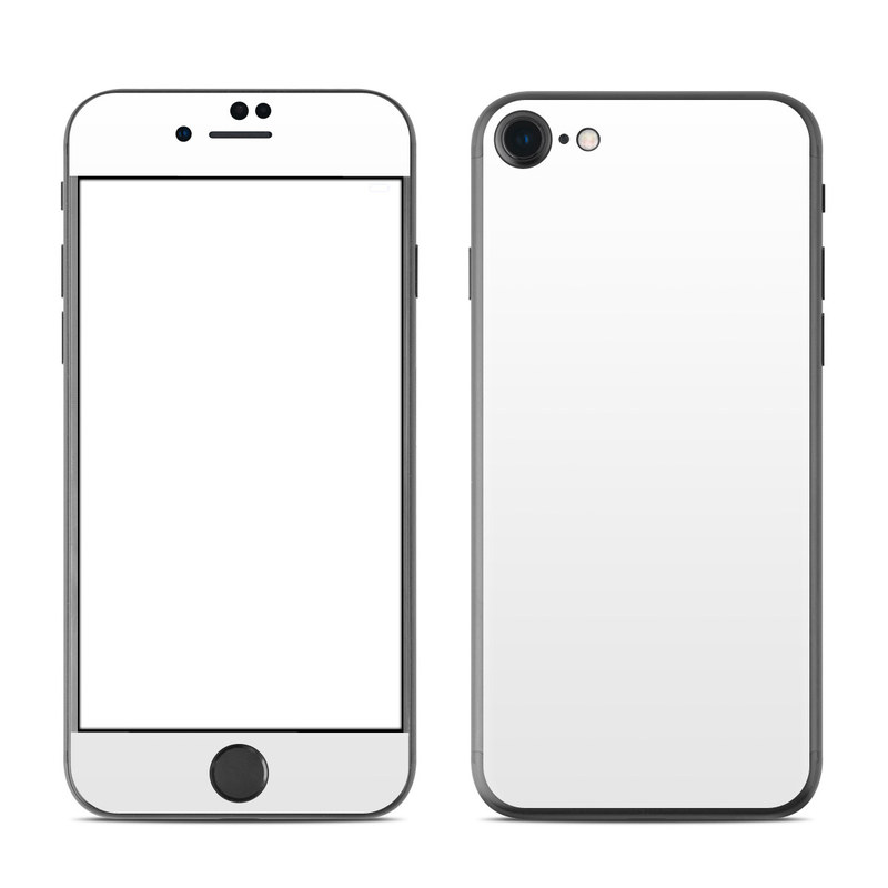 iPhone 7 Skin design of White, Black, Line with white colors