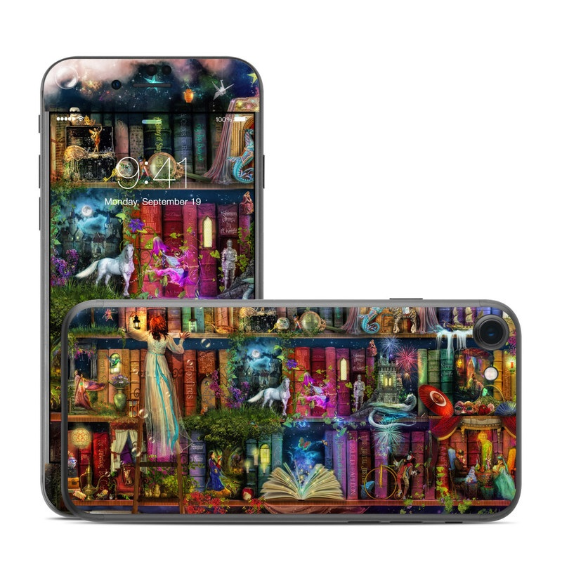 iPhone 7 Skin design of Painting, Art, Theatrical scenery with black, red, gray, green, blue colors