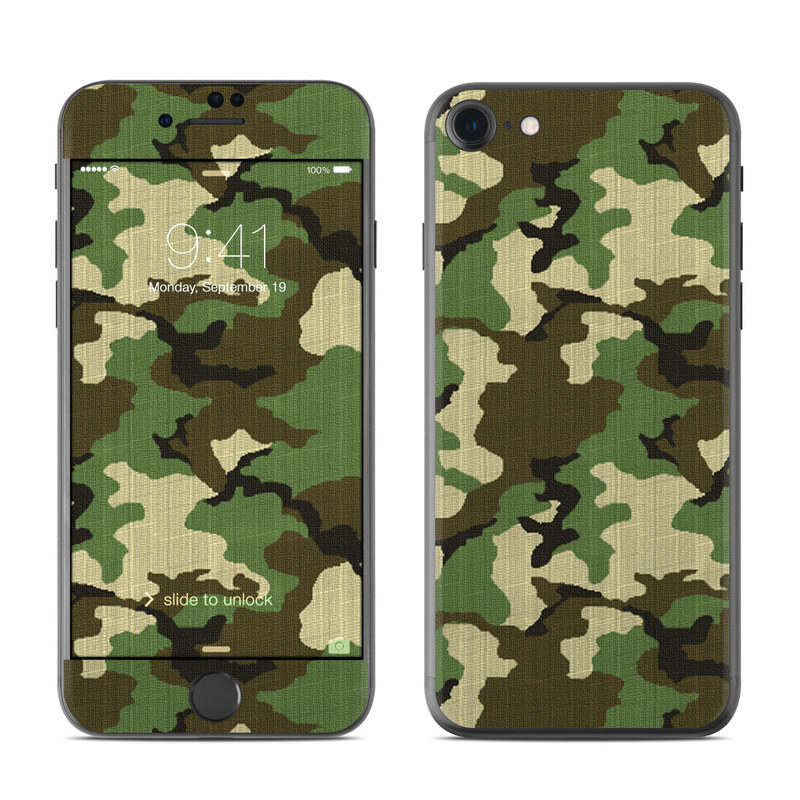 Woodland Camo iPhone 7 Skin