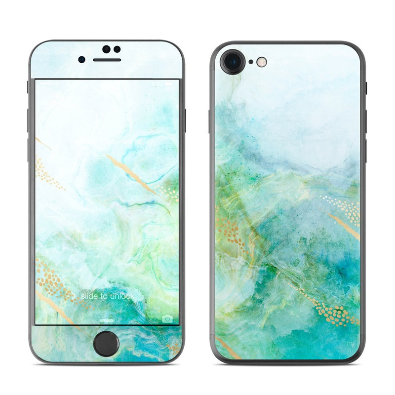 iPhone 7 Skin design of Blue, Watercolor paint, Aqua, Line, Sky, Design, Pattern, Art, Illustration with blue, yellow, orange colors