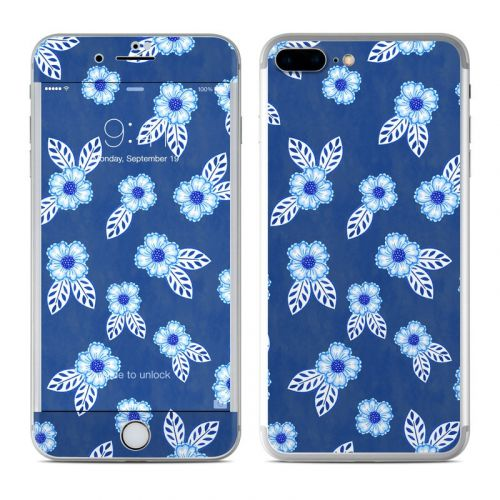 China Blue iPhone 7 Plus Skin