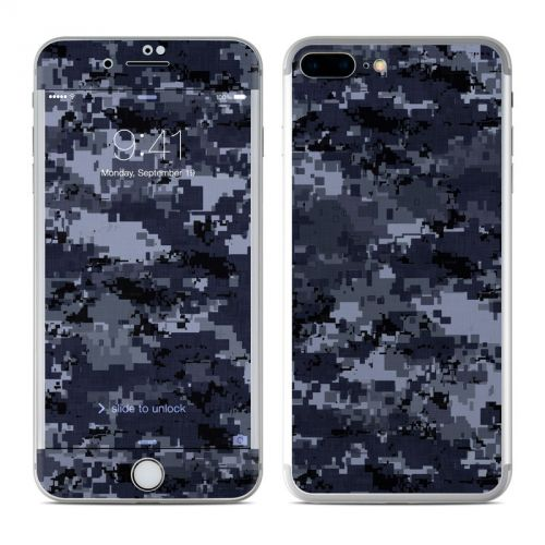 Digital Navy Camo iPhone 7 Plus Skin