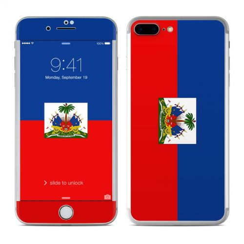 Haiti Flag iPhone 7 Plus Skin