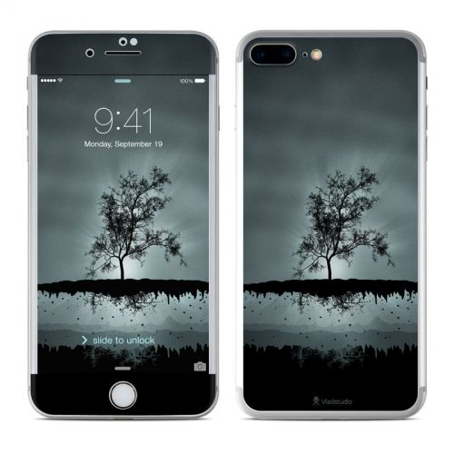 Flying Tree Black iPhone 7 Plus Skin