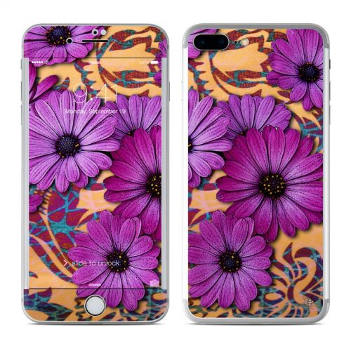 Purple Daisy Damask iPhone 7 Plus Skin