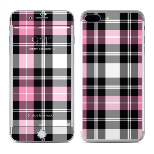 Pink Plaid iPhone 7 Plus Skin