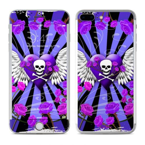 Skull & Roses Purple iPhone 7 Plus Skin