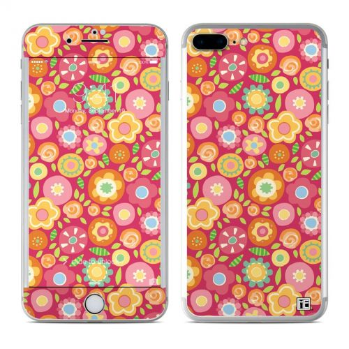 Flowers Squished iPhone 7 Plus Skin