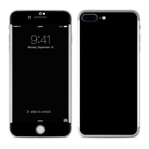 Solid State Black iPhone 7 Plus Skin
