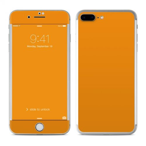 Solid State Orange iPhone 7 Plus Skin