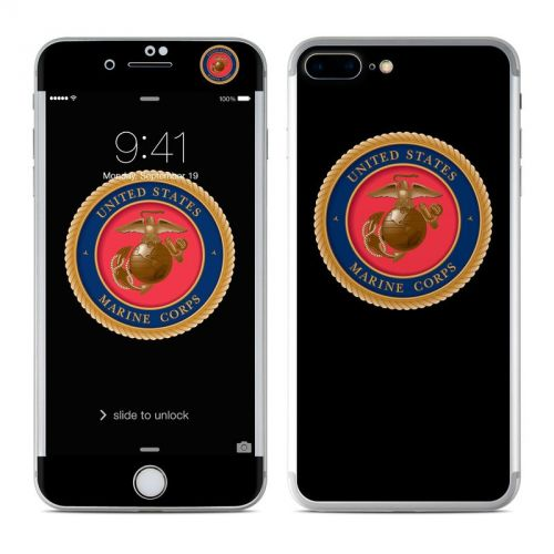 USMC Black iPhone 7 Plus Skin