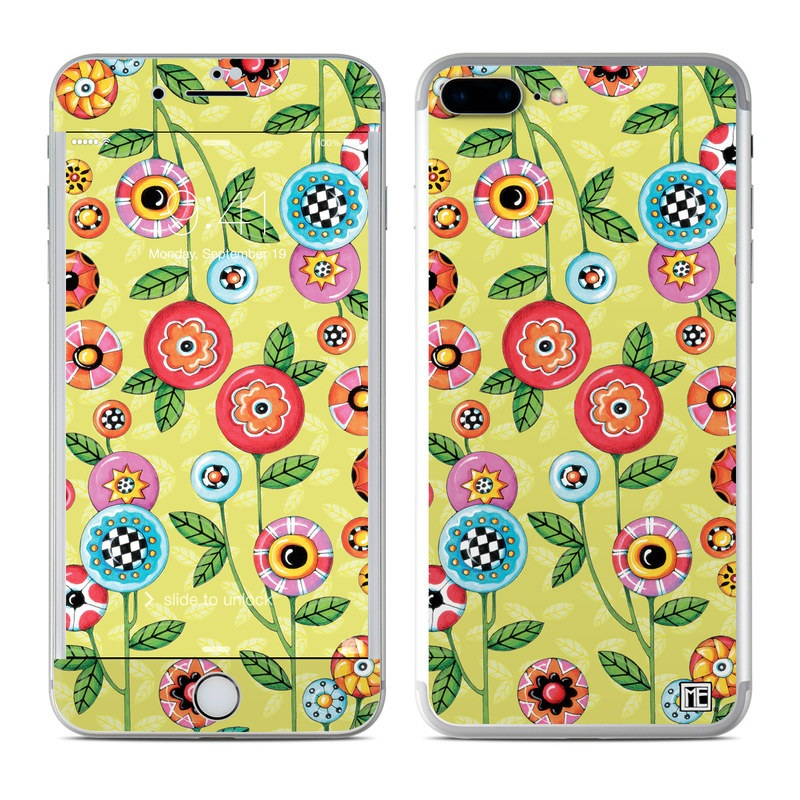 Button Flowers iPhone 7 Plus Skin