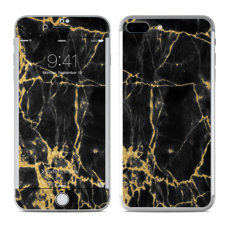 Black Gold Marble iPhone 7 Plus Skin