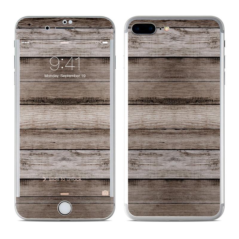 iPhone 7 Plus Skin design of Wood, Plank, Wood stain, Hardwood, Line, Pattern, Floor, Lumber, Wood flooring, Plywood with brown, black colors