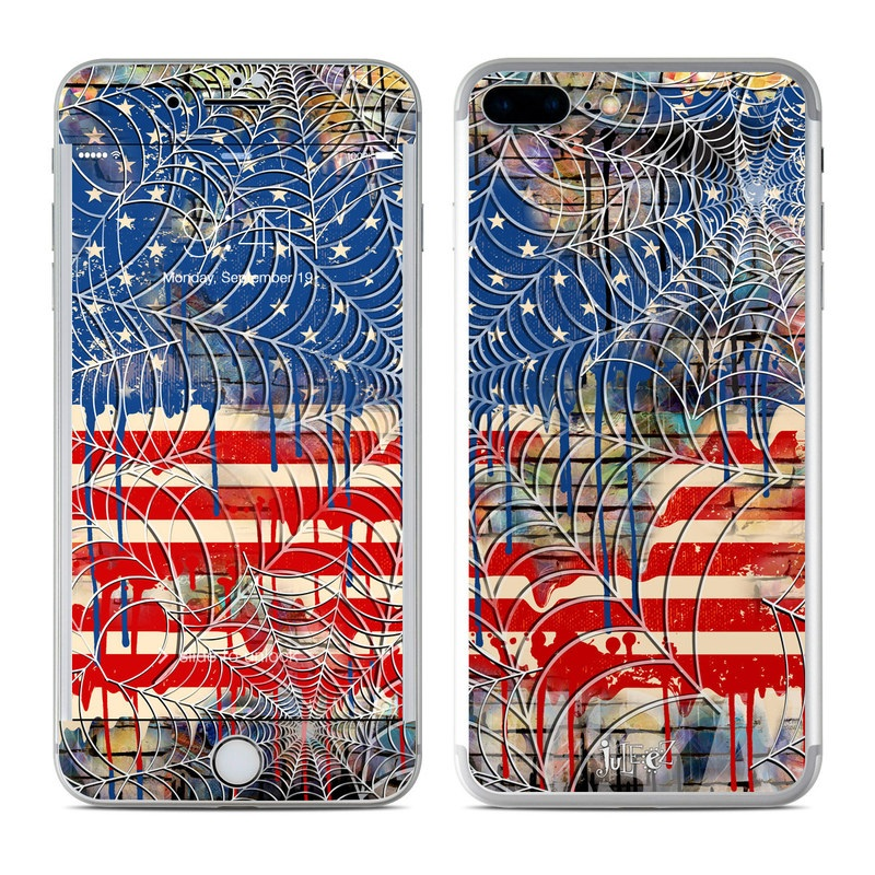 Cobweb Flag iPhone 7 Plus Skin