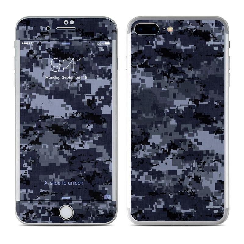 Digital Navy Camo iPhone 7 Plus Skin