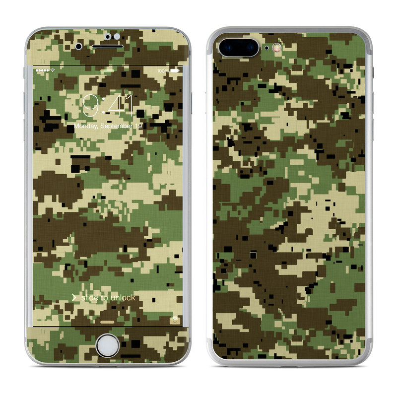 Digital Woodland Camo iPhone 7 Plus Skin