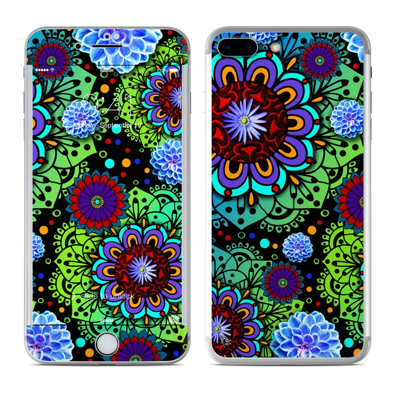 Funky Floratopia iPhone 7 Plus Skin