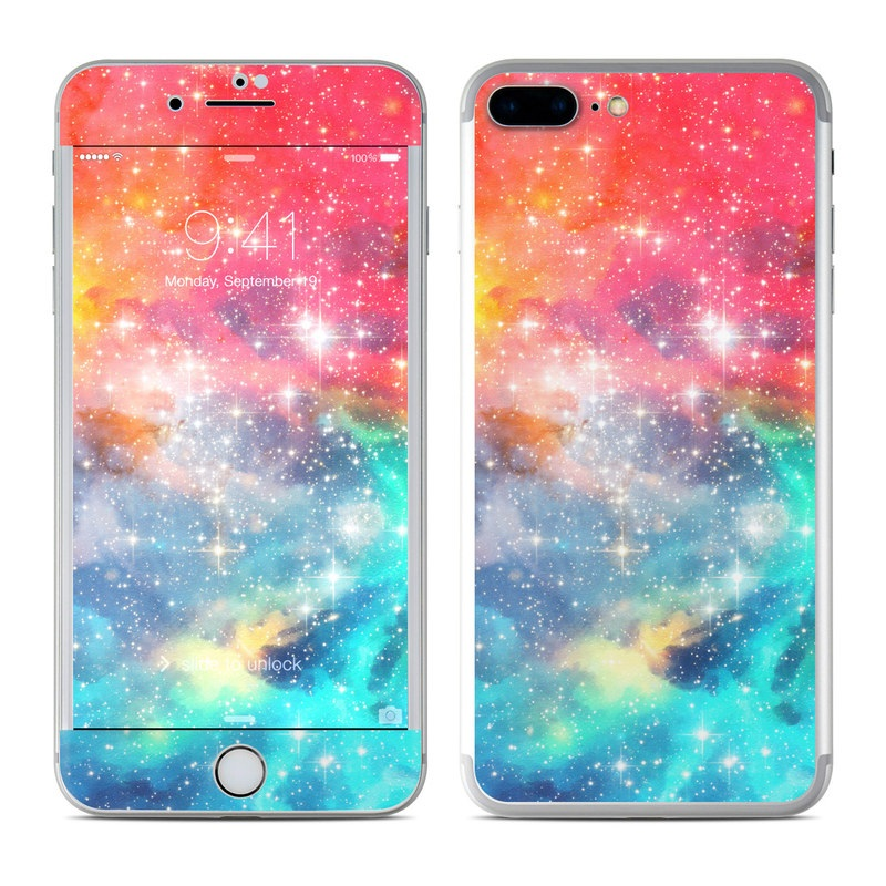 iPhone 7 Plus Skin design of Nebula, Sky, Astronomical object, Outer space, Atmosphere, Universe, Space, Galaxy, Celestial event, Star with white, black, red, orange, yellow, blue colors