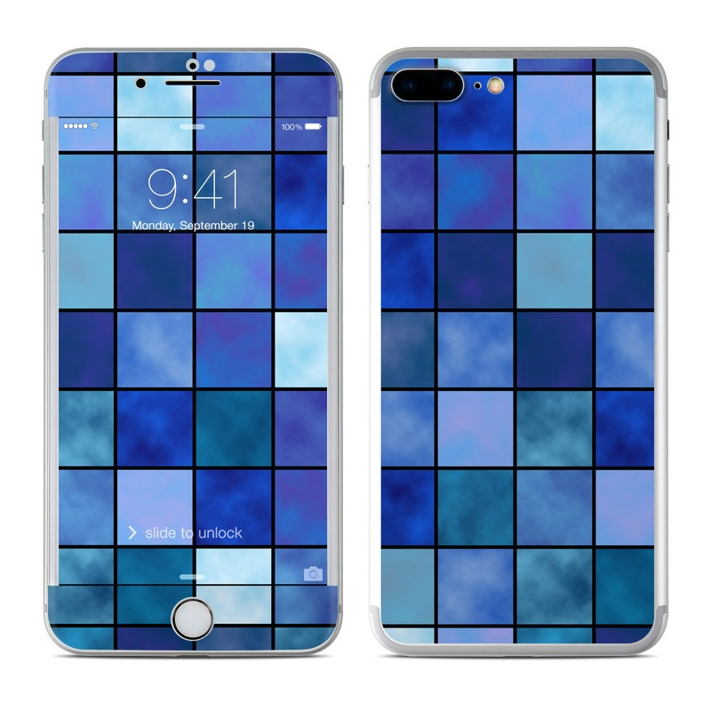 Blue Mosaic iPhone 7 Plus Skin