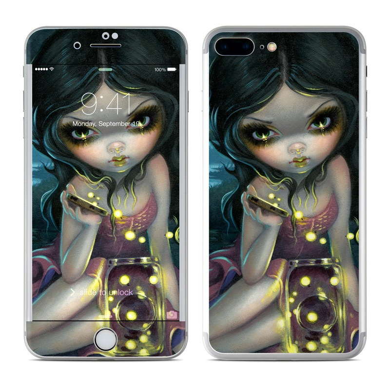 iPhone 7 Plus Skin design of Cg artwork, Illustration, Fictional character, Art, Iris, Black hair, Fawn, Mythology, Fiction with blue, green, pink, yellow, black, white colors