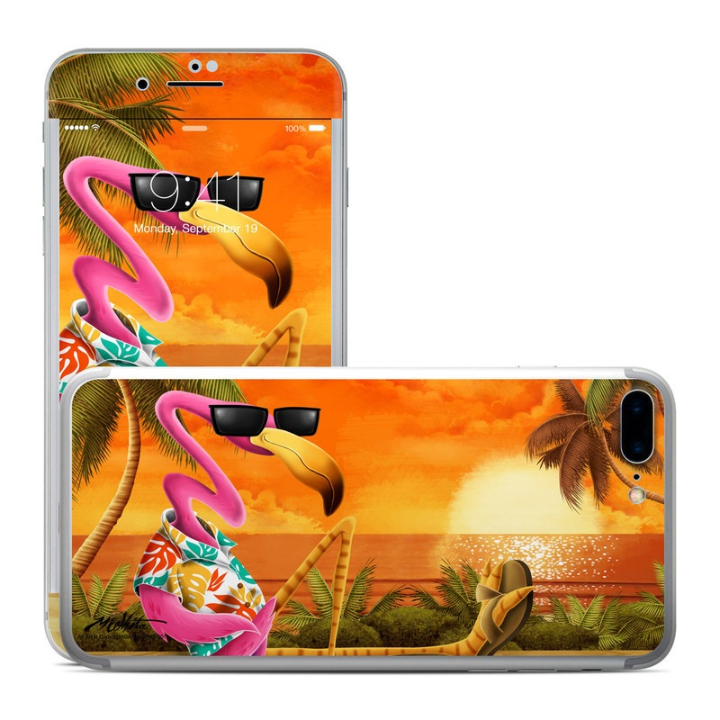 iPhone 7 Plus Skin design of Cartoon, Art, Animation, Illustration, Plant, Cg artwork, Shoe, Fictional character with red, orange, green, black, pink colors