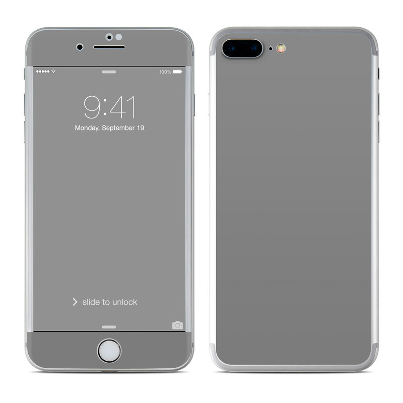 Solid State Grey iPhone 7 Plus Skin