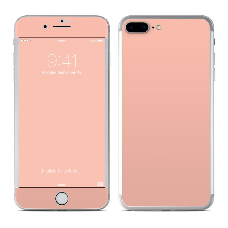 Solid State Peach iPhone 7 Plus Skin