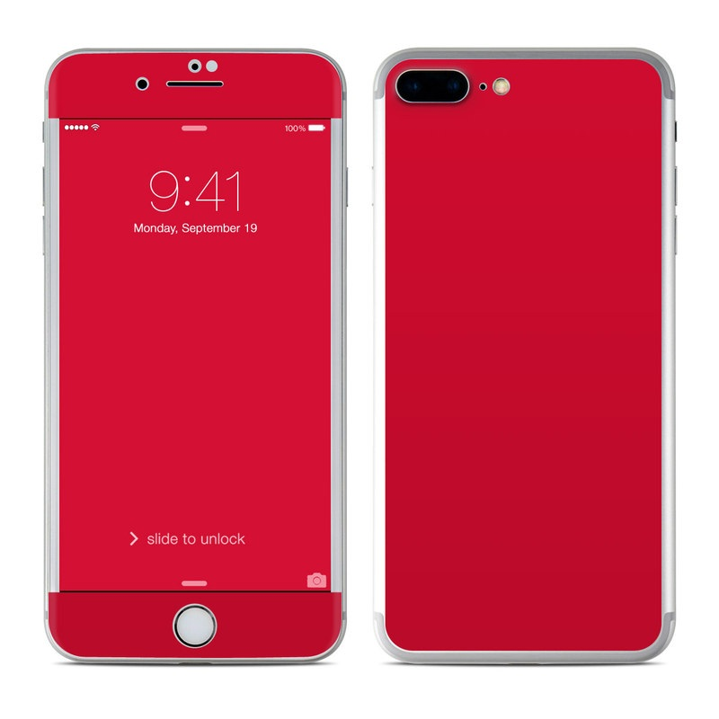 Solid State Red iPhone 7 Plus Skin