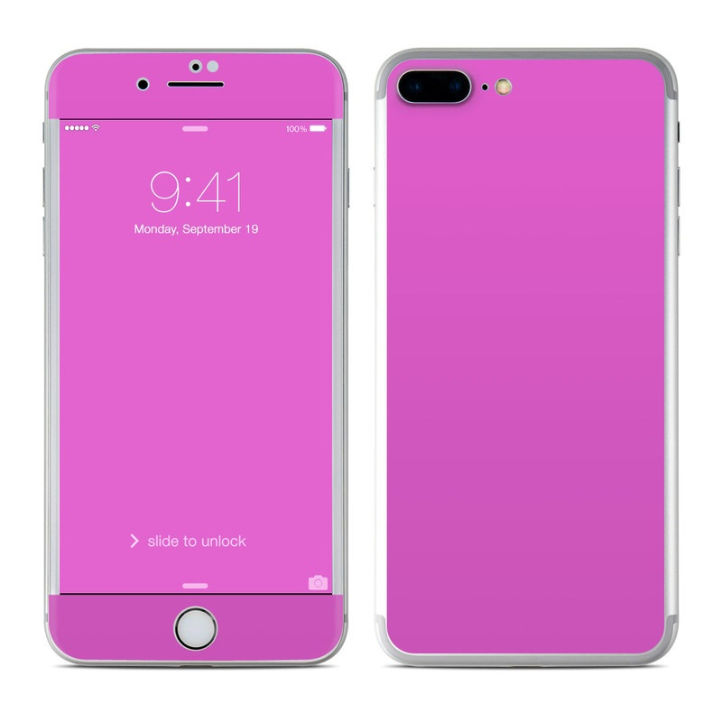Solid State Vibrant Pink iPhone 7 Plus Skin