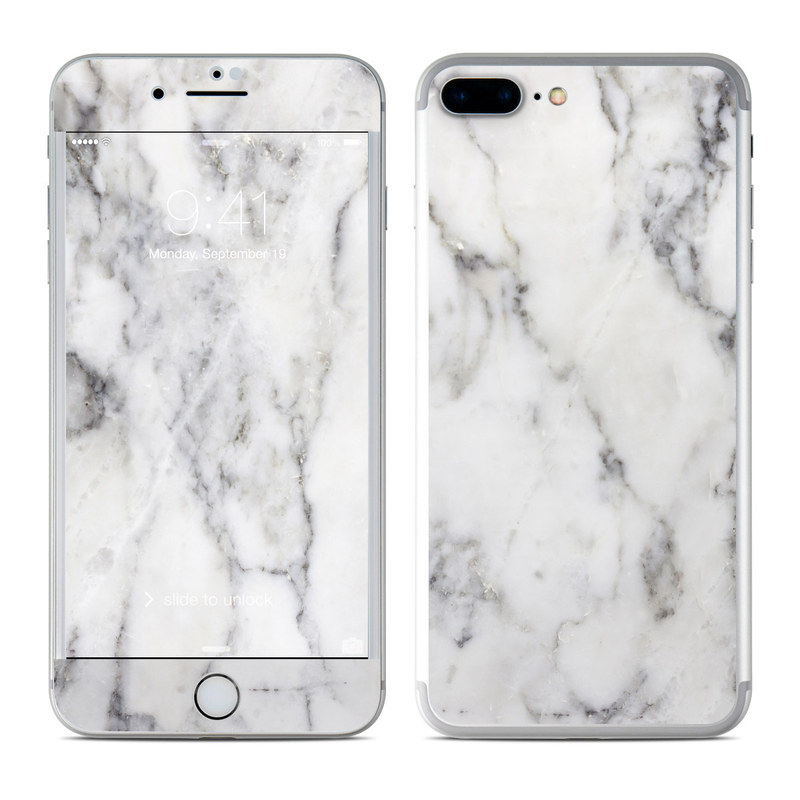 White Marble iPhone 7 Plus Skin