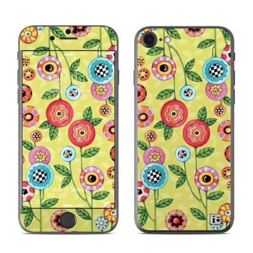 Button Flowers iPhone 8 Skin