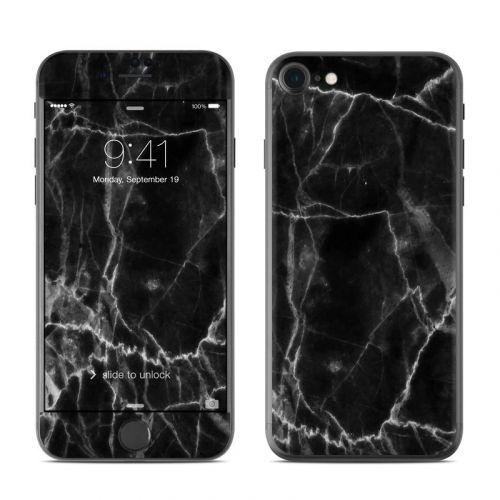Black Marble iPhone 8 Skin