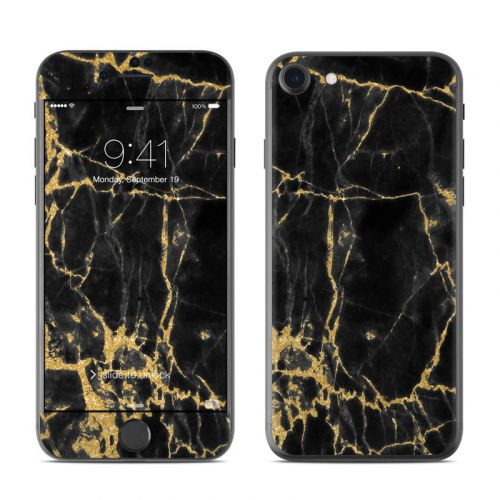 Black Gold Marble iPhone 8 Skin