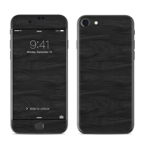Black Woodgrain iPhone 8 Skin