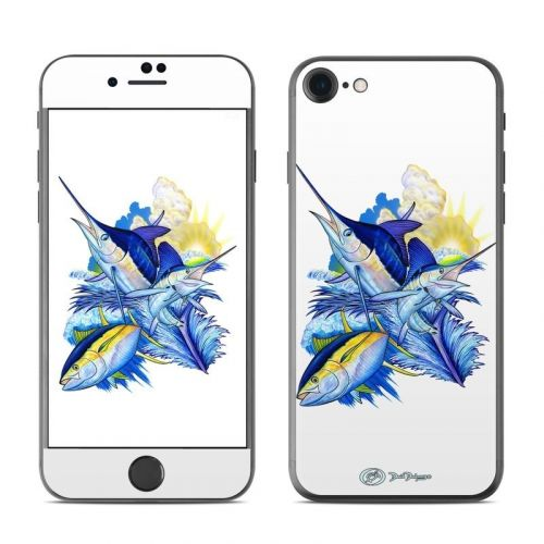 Blue White and Yellow iPhone 8 Skin