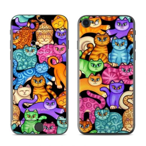 Colorful Kittens iPhone 8 Skin