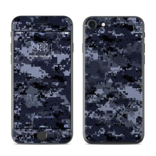 Digital Navy Camo iPhone 8 Skin