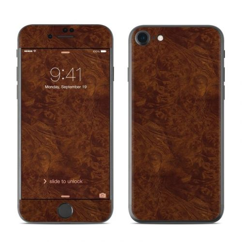 Dark Burlwood iPhone 8 Skin
