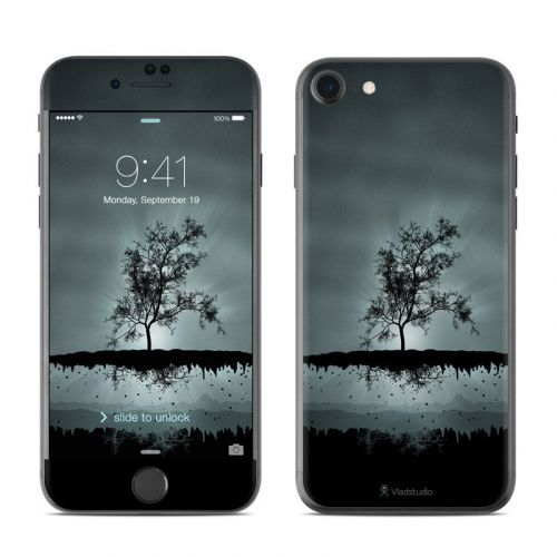 Flying Tree Black iPhone 8 Skin