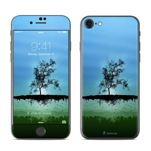 Flying Tree Blue iPhone 8 Skin