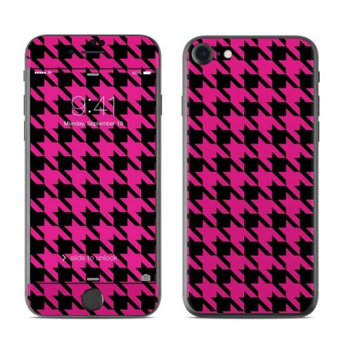 Pink Houndstooth iPhone 8 Skin