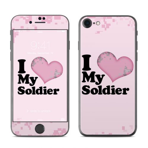 I Love My Soldier iPhone 8 Skin