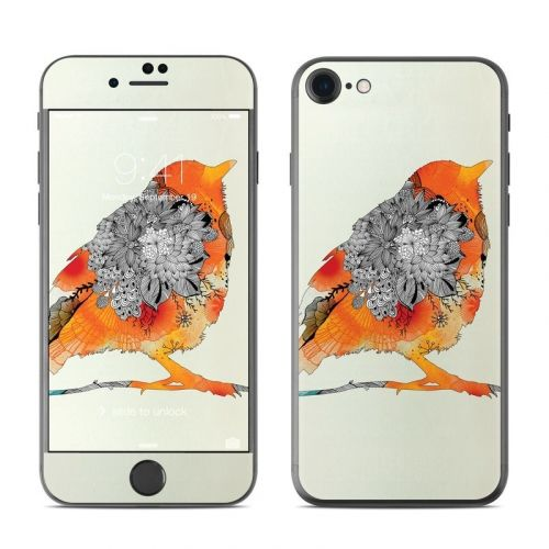 Orange Bird iPhone 8 Skin